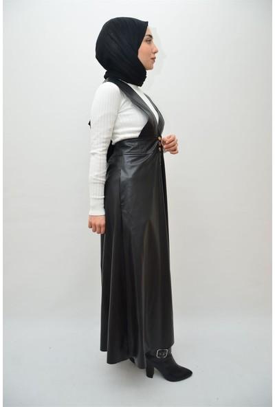 Anitabella Deri Askılı Elbise