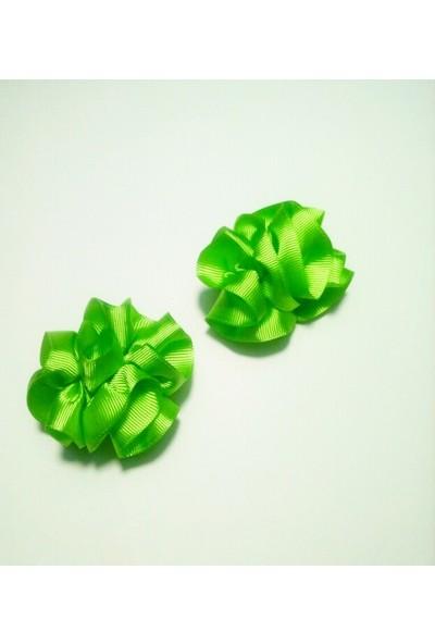 Pamuk Şekeri Hobi Evi Yeşil Ponpon Çocuk Saç Tokası