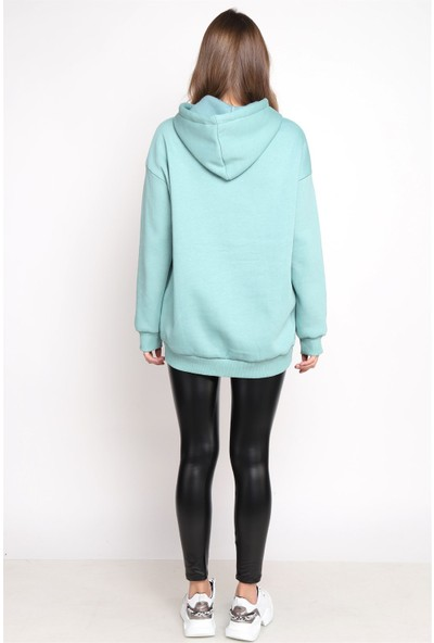 Twister Kapşonlu Sweatshirt 0001 Mint