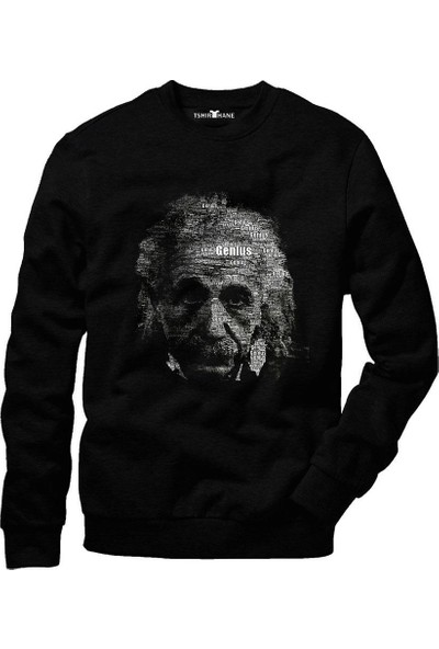 Tshirthane Albert Einstein Tipografi Sweatshirt