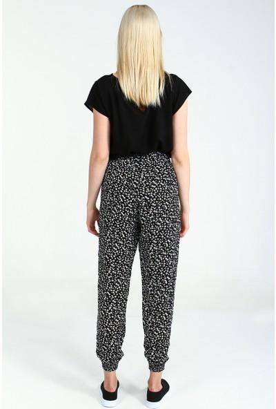 Collezione Kadın Siyah Regular Pantolon