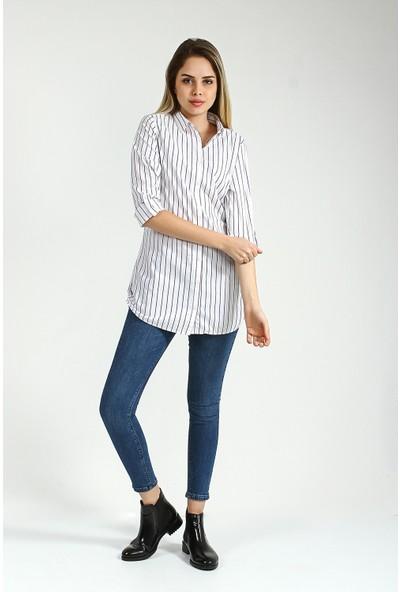 Collezione Kadın Beyaz Regular Tunik