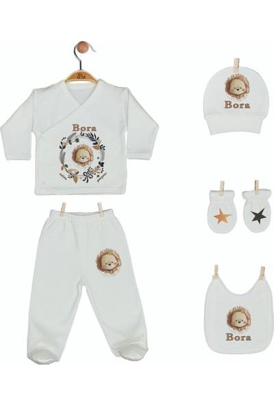 Pia Baby Gl 1909-05 İsme Özel Beşli Zıbın Set