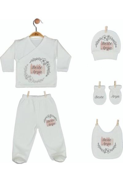 Pia Baby Gl 1908-05 İsme Özel Beşli Zıbın Set