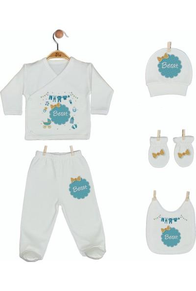 Pia Baby Gl 1905-05 İsme Özel Beşli Zıbın Set