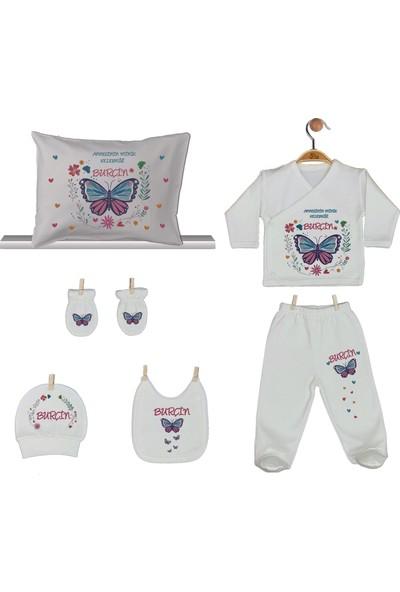 Pia Baby Gl 1910-08 İsme Özel Yastık Zıbın Set