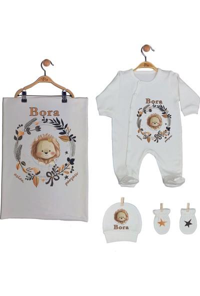 Pia Baby Gl 1909-03 İsme Özel Battaniyeli Tulum Seti