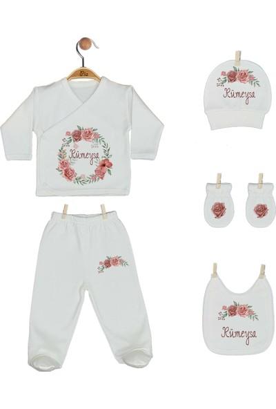 Pia Baby Gl 1937-05 İsme Özel Beşli Zıbın Set