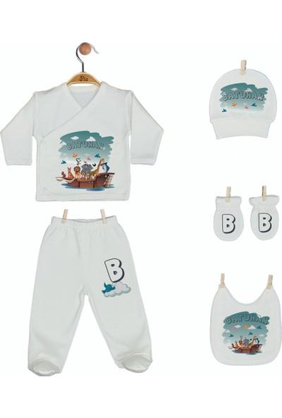 Pia Baby Gl 1947-05 İsme Özel Beşli Zıbın Set