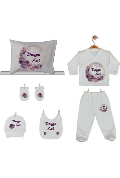 Pia Baby Gl 1919-08 İsme Özel Yastık Zıbın Set