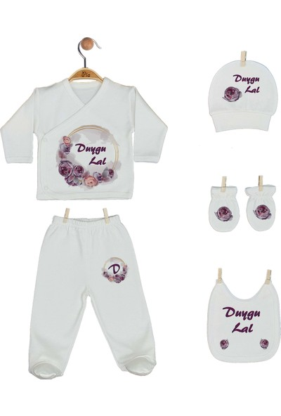 Pia Baby Gl 1919-07 İsme Özel Battaniye Zıbın Set