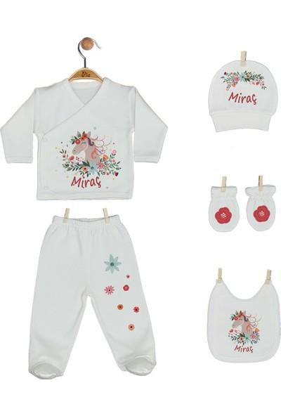 Pia Baby Gl 1949-05 İsme Özel Beşli Zıbın Set