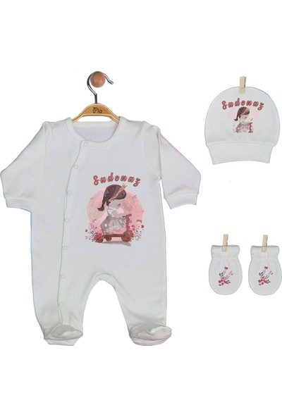 Pia Baby Gl 1940 -02 İsme Özel Beşli Tulum Set