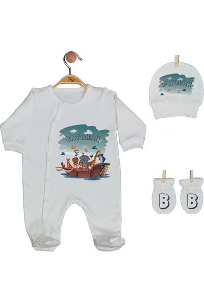 Pia Baby Gl 1947 -02 İsme Özel Beşli Tulum Set