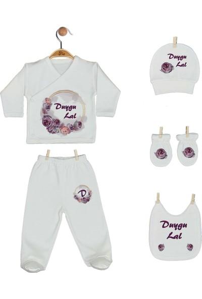 Pia Baby Gl 1919-06 İsme Özel Yastık Battaniye Zıbın Set