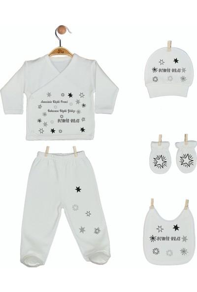 Pia Baby Gl 1950-05 İsme Özel Beşli Zıbın Set