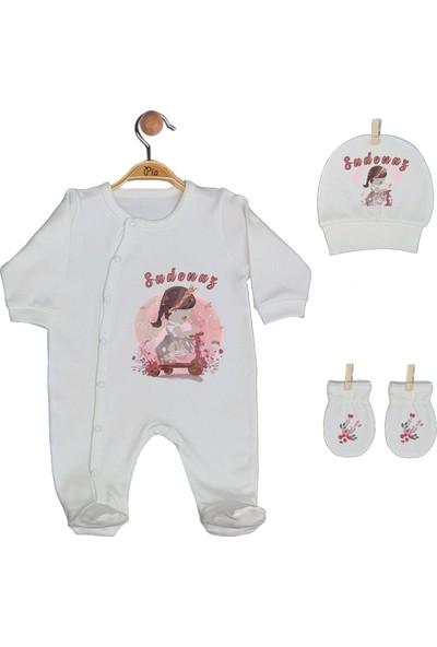 Pia Baby Gl 1940-01 İsme Özel Üçlü Tulum Set