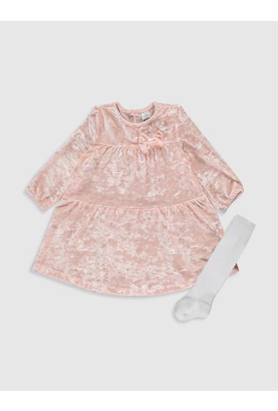 LC Waikiki Kız Bebek Elbise ve Külotlu Çorap