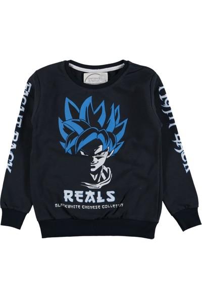 Wkc Kids ErkekÇocuk Dar Kalıp Fight Desenli Kolları Yazılı Sweatshirt