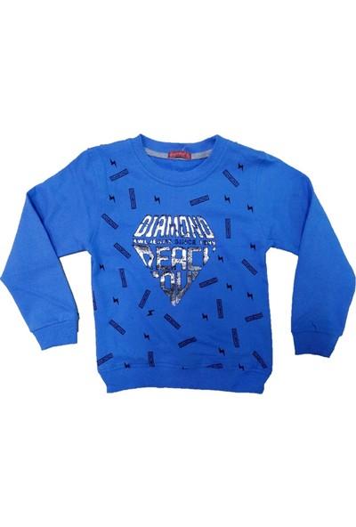 Bittoş Kids Diamond Desenli Erkek Çocuk Sweatshirt