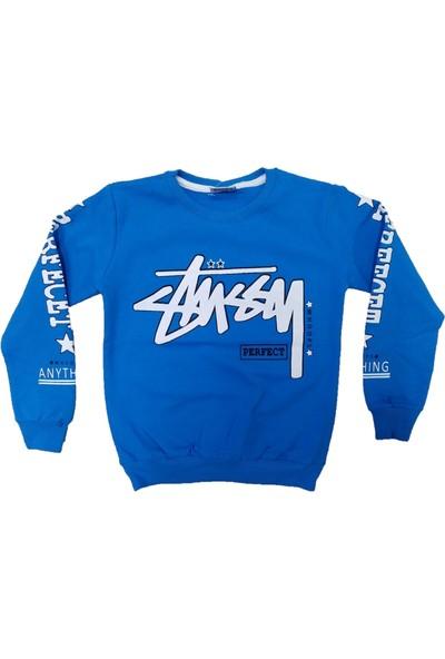 Bittoş Kids Wkc Kids Perfect Desenli Kolları Yazılı Erkek Çocuk Sweatshirt