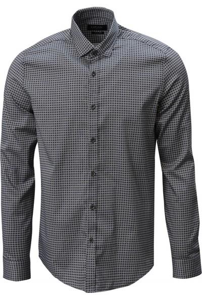 Lufian Slim Fit Ciruela Smart Gömlek