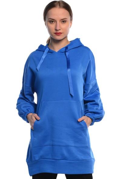Nefise Kadın Kapüşonlu Sweatshirt