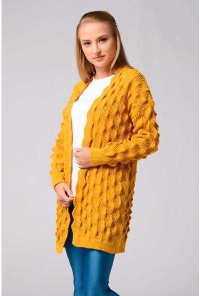 Nefise Kadın Örgü Ceket