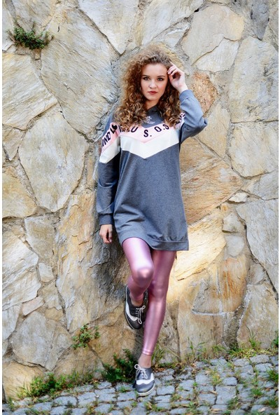 Nefise Kadın Yazılı Sweatshirt