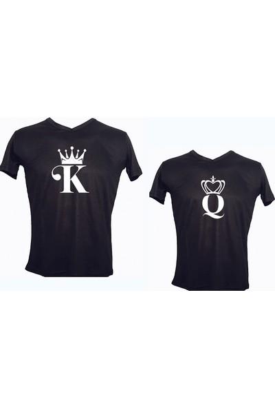 Dolce Sevgililer Günü Tişört Takım K-Q 1 Siyah-Beyaz