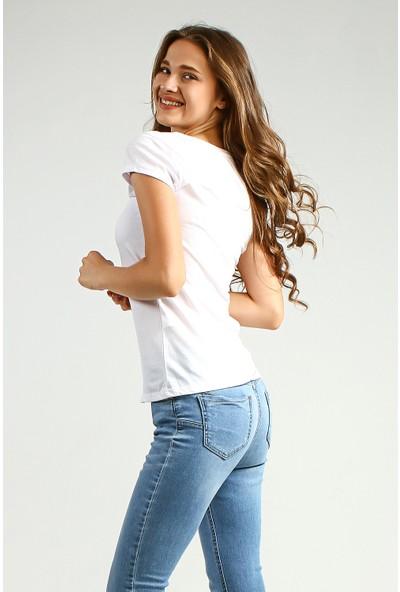 Collezione Kadın T-Shirt Kısa Kol Ando