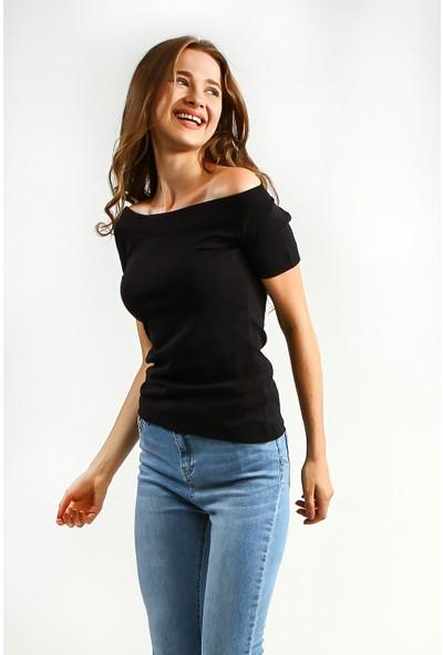 Collezione Kadın T-Shirt Kısa Kol Rastel