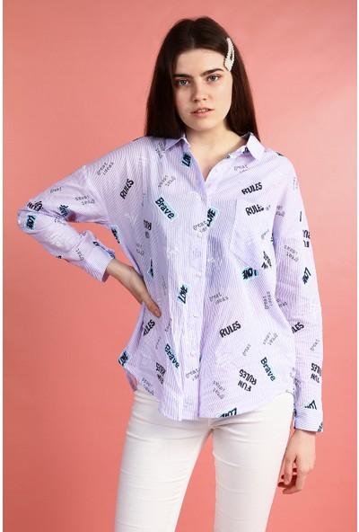 Collezione Kadın Gömlek Uzun Kol Pansy