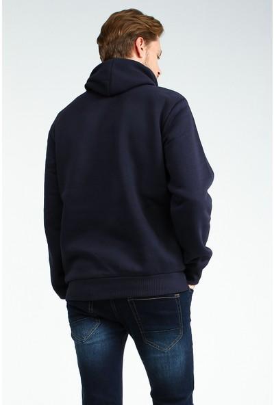 Collezione Erkek Lacivert Regular Sweat Shirt Jones-Emo