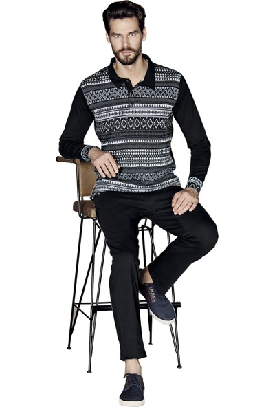 Güryıldız Erkek Yeni Sezon Uzun Kol Pijama Takımı 5376