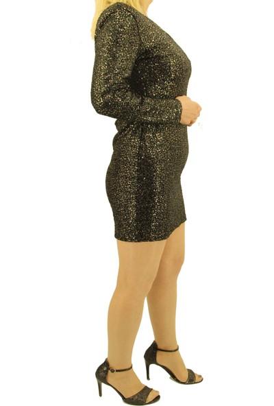 Gossip Kadın Yeşil Parlak Pullu Elbise