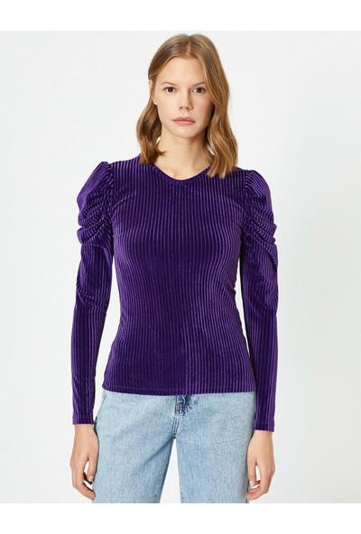 Koton Kadın Büzgülü T-Shirt