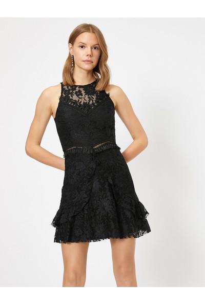 Koton Kadın Dantel Detaylı Elbise