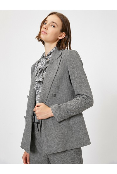 Koton Kadın Düğme Detaylı Ceket