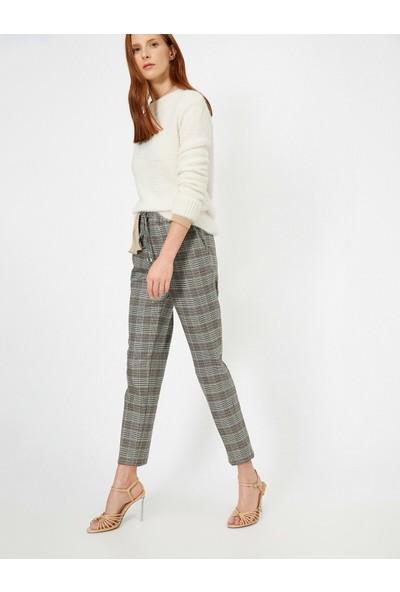 Koton Kadın Kareli Pantolon