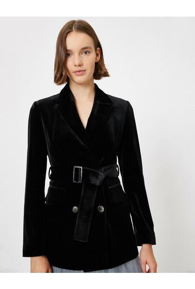 Koton Kadın Kemer Detaylı Ceket