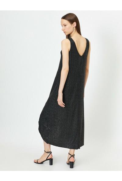 Koton Kadın Pul Detaylı Elbise