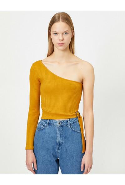 Koton Kadın Tek Omuz T-Shirt