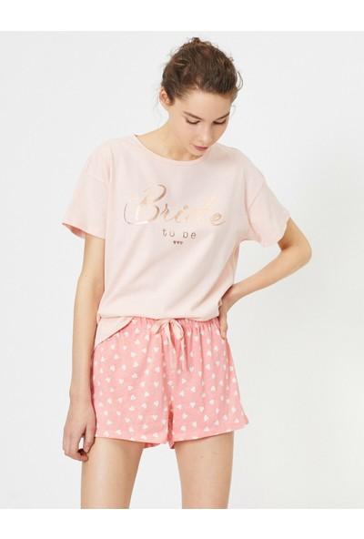 Koton Kadın Yazılı Baskılı Pijama Takımı