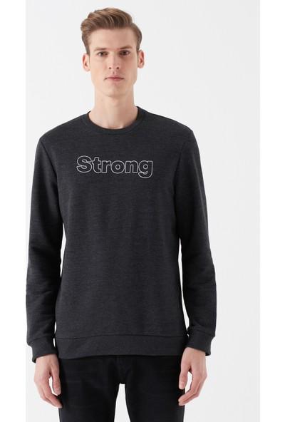 Mavi Erkek Strong Baskılı Gri Sweatshirt 8806061-29822