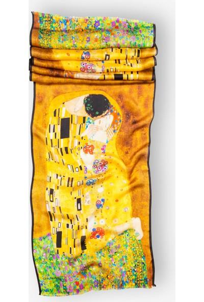 Galiga İpek Fular The Kiss 165 Sarı