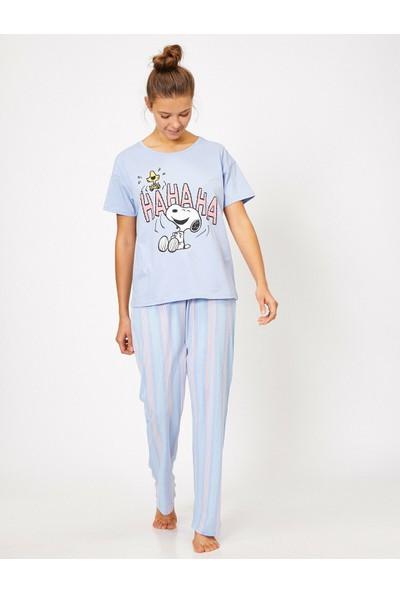 Koton Yazılı Baskılı Pijama Seti