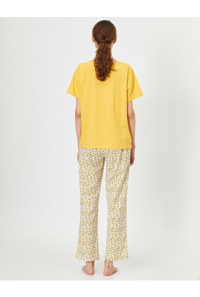 Koton Yazılı Baskılı Pijama Takimi