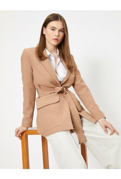 Koton Beli Bağlamalı Ceket