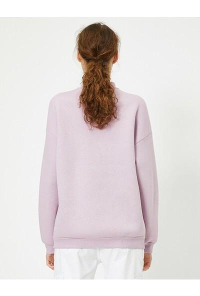 Koton Yüksek Yaka Sweatshirt